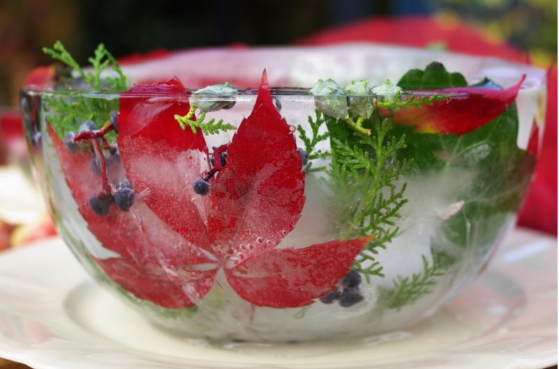 Ледяная чаша-как подать салат