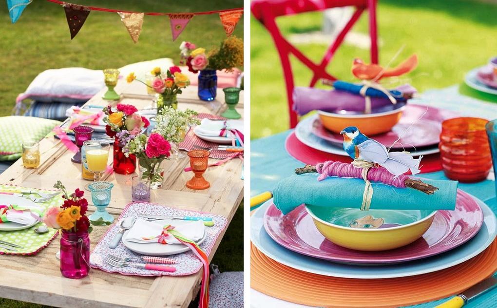 Летняя сервировка стола-буйство красок