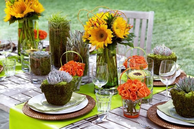 Летняя сервировка стола-идеи и фото