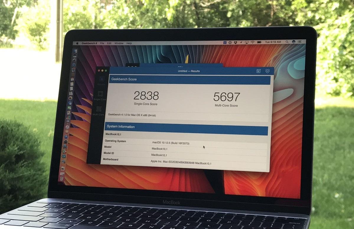 Обзор 12-дюймового MacBook 2017 с процессором Intel Kaby Lake - производительность