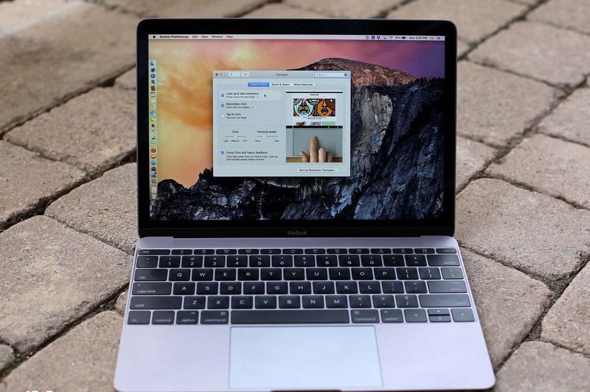 Обзор 12-дюймового MacBook 2017 с процессором Intel Kaby Lake - трекпад