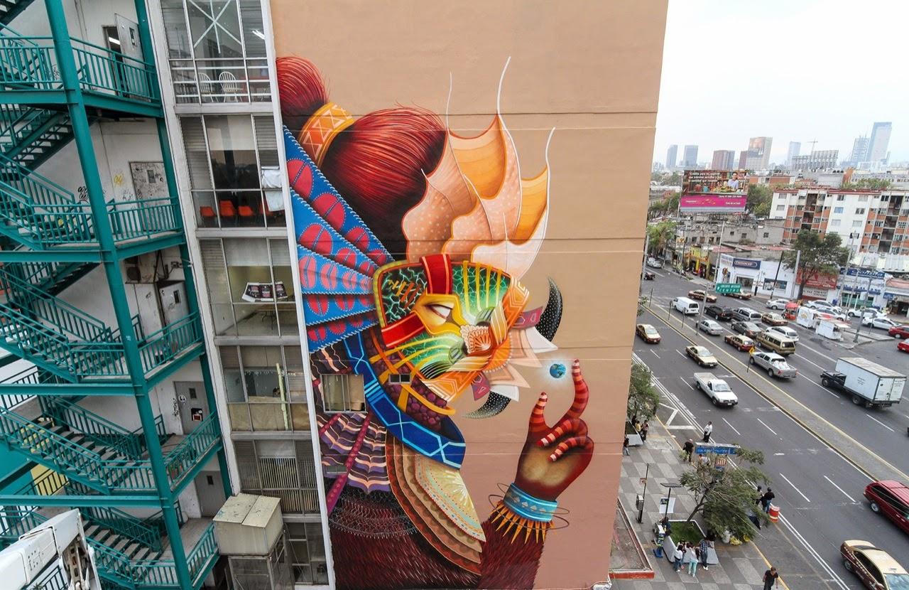 Папка «Фото», Стрит-арт-история развития и лучшие примеры уличного искусства – Муралы Мехико 1.