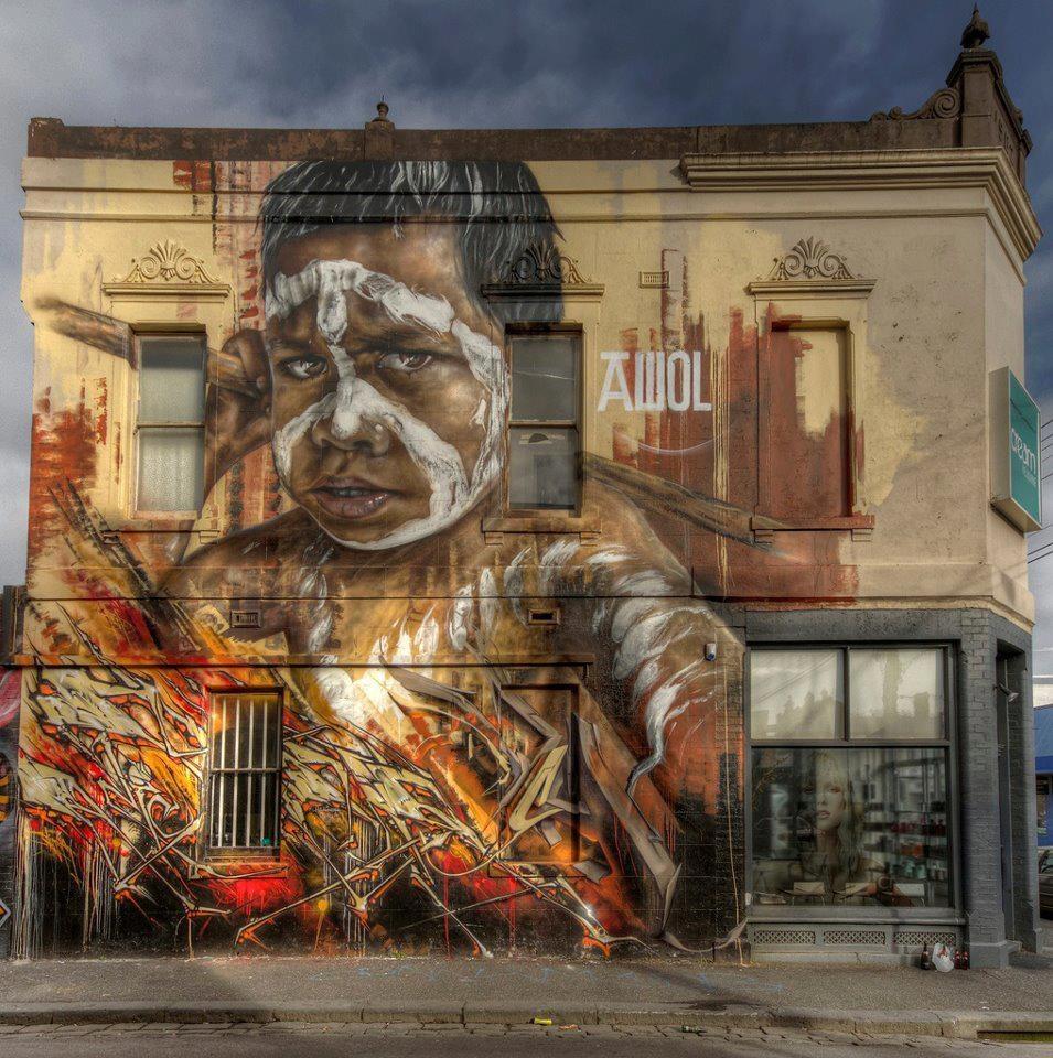 Папка «Фото», Стрит-арт-история развития и лучшие примеры уличного искусства – Муралы Мельбурна 1.