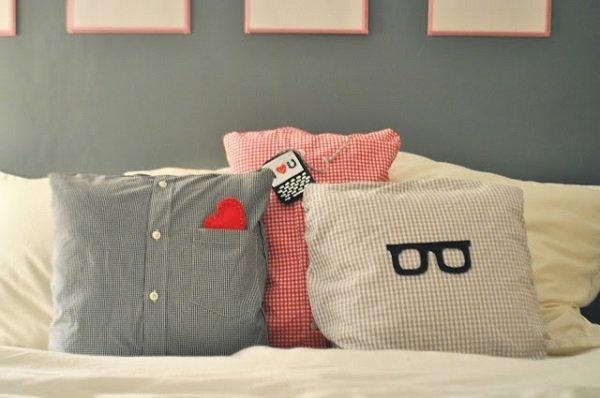 Подушка и из старых вещей-из рубашки