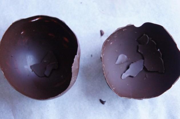 Шоколадная пиала для ягод и фруктов-приготовление фото 3