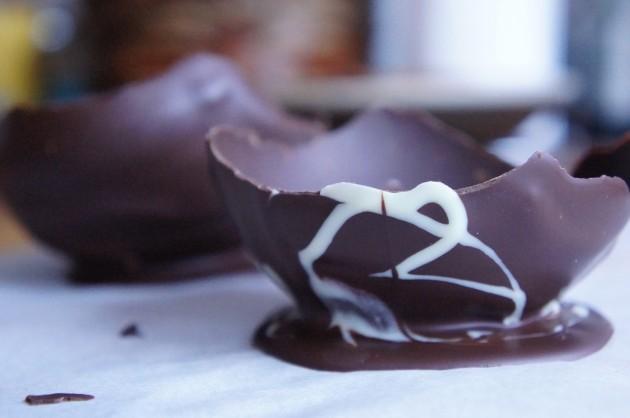 Шоколадная пиала-для ягод и фруктов