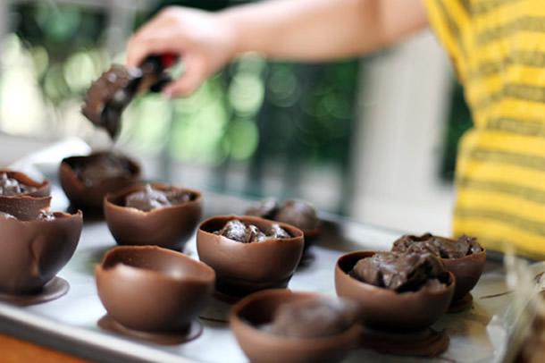 Шоколадные пиалы-для эффектной подачи десертов и ягод