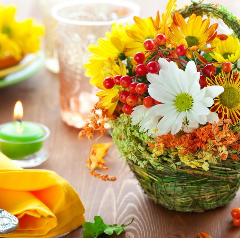 Цветы-летняя сервировка стола фото 3