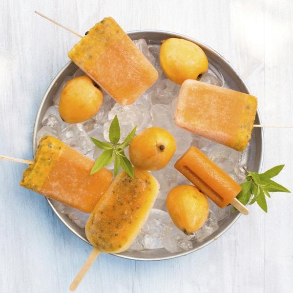 Апельсиновый сок с мятой-сорбет