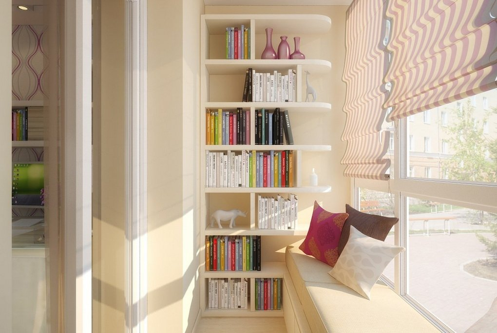 Балкон и лоджия-зона для чтения