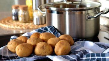 Картошечка по-селянски и салат с тунцом и молодым картофелем