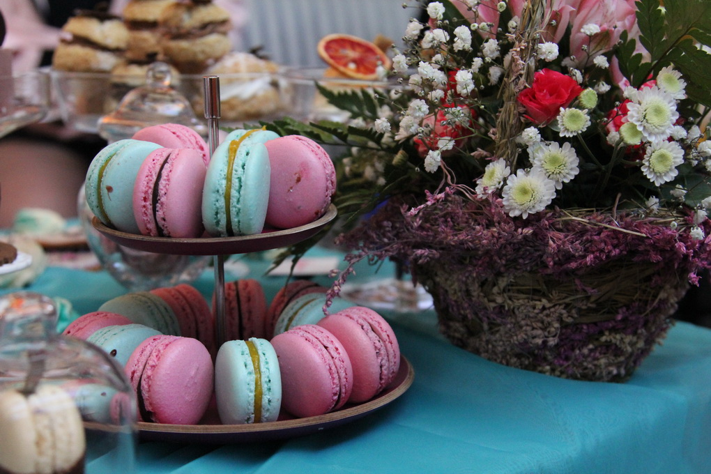 Макароны-модный свадебный десерт