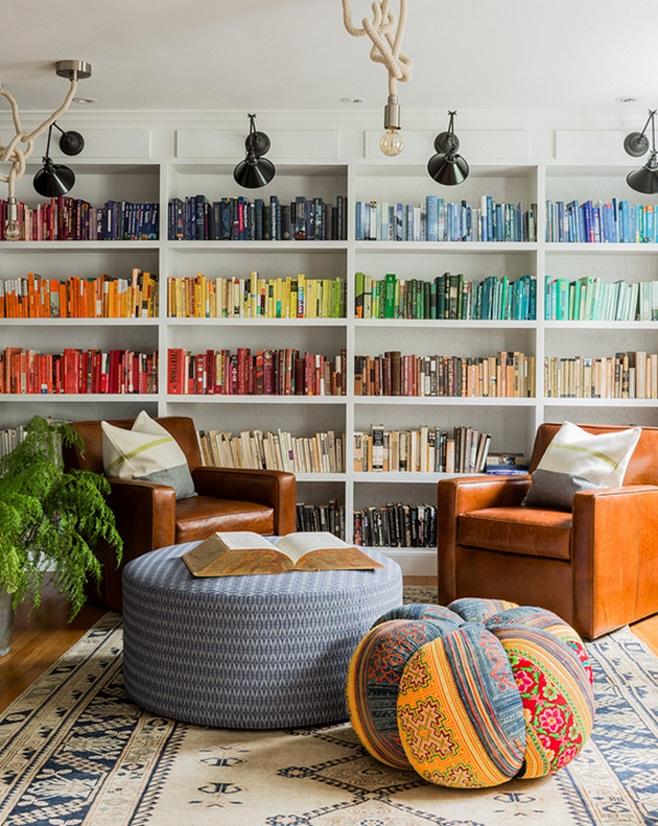 Место для чтения-стеллажи с книгами
