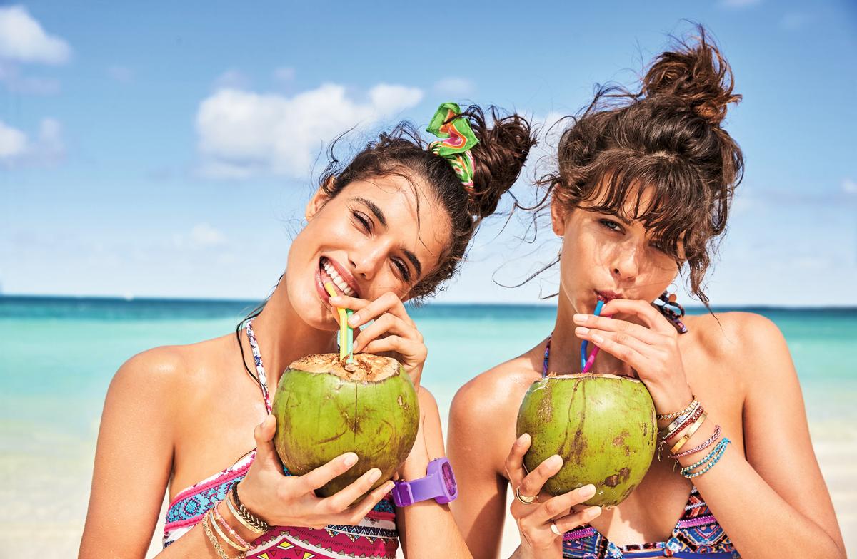 Папка «Фото», Смуглое лето- правила идеального загара – фрукты на пляже.