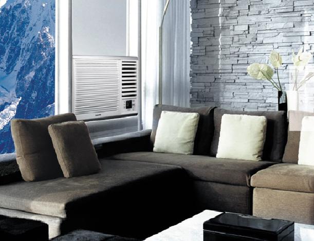 В чём отличие сплит-систем от других типов кондиционеров - оконный кондиционер в гостинной
