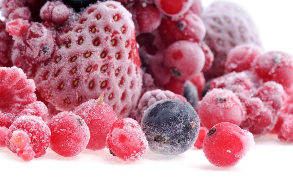 Замороженные ягоды-иней