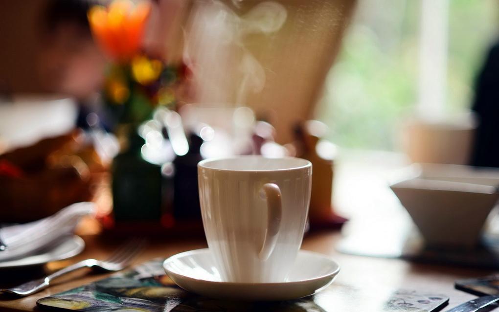 Чашка ароматного кофе-доброго утра