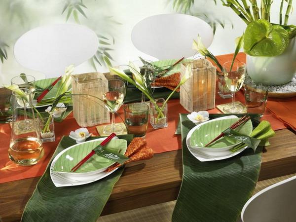 Карибский стиль-сервировка стола фото 1