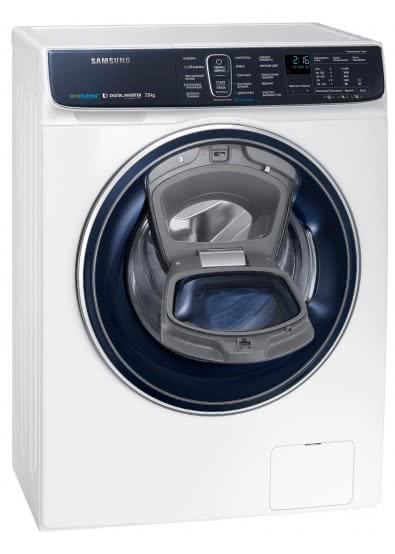 Обзор стиральной машины Samsung WW70K62E69WDUA - стиральная машина с открытой дверцей addwash
