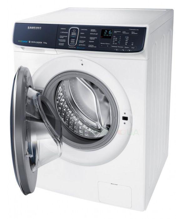 Обзор стиральной машины Samsung WW70K62E69WDUA - стиральная машина с открытой дверцей
