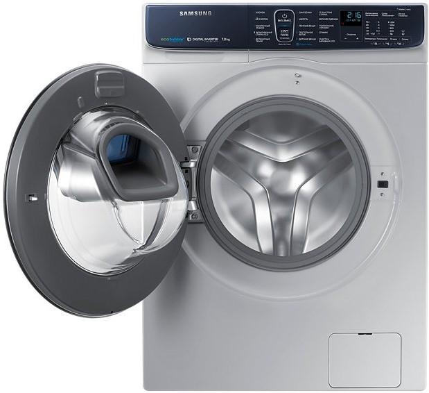 Обзор стиральной машины Samsung WW70K62E69WDUA - стиральная машина в сером цвете