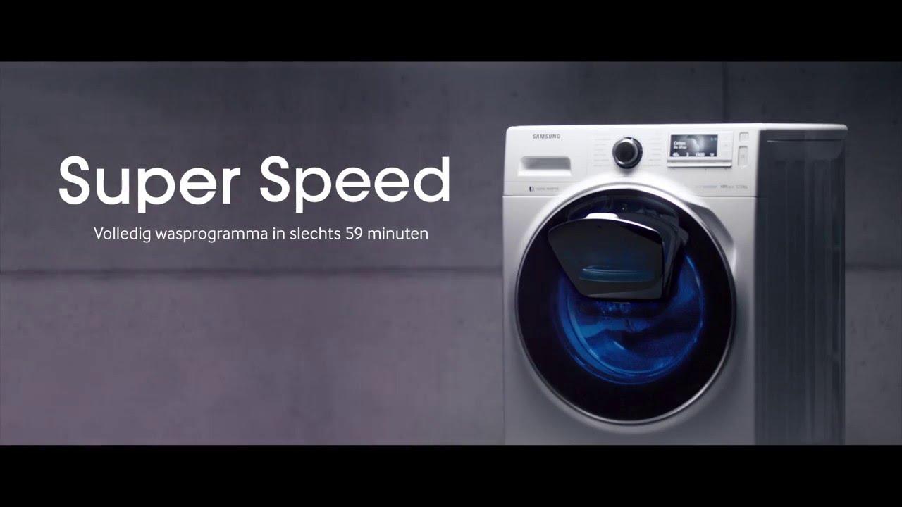 Обзор стиральной машины Samsung WW70K62E69WDUA - технология superspeed