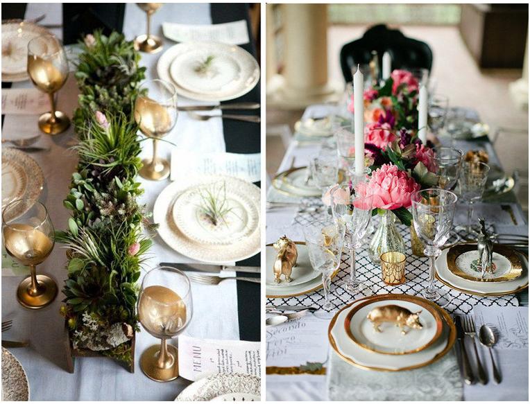 Сервировка стола-цветочные композиции
