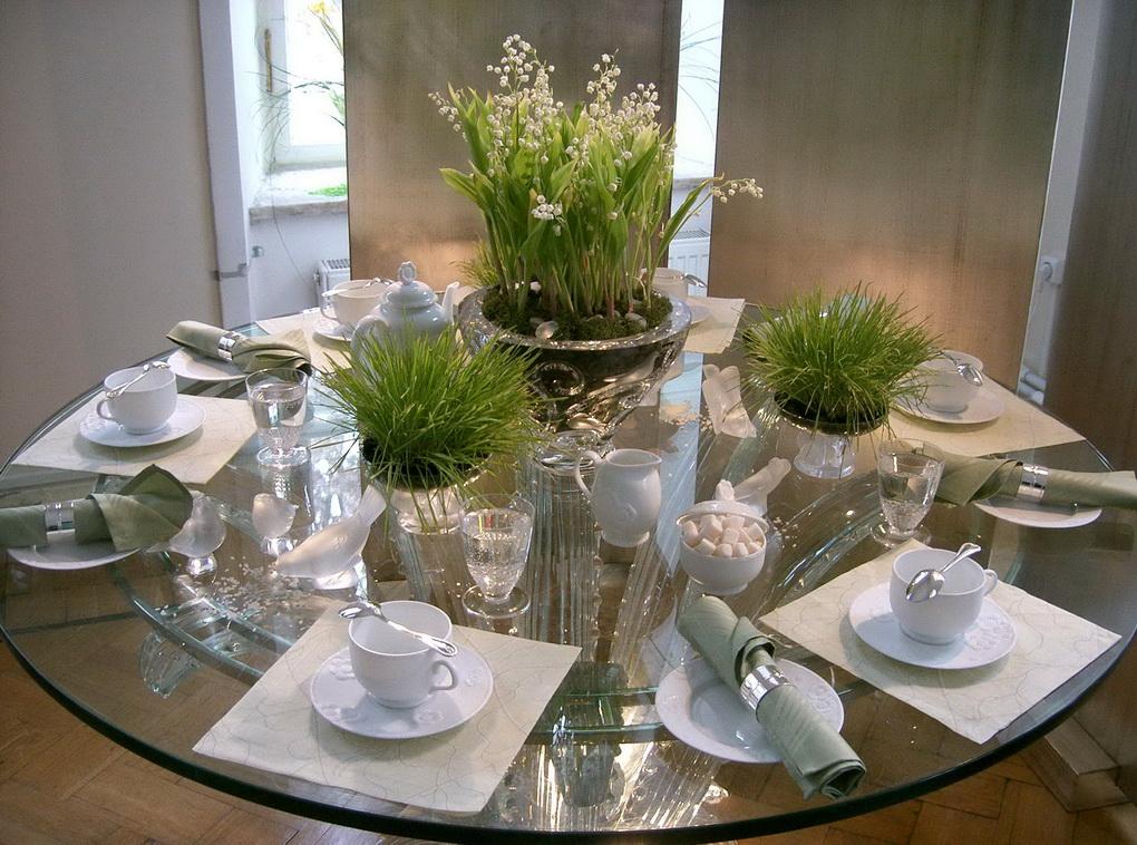 Сервировка стола-цветы