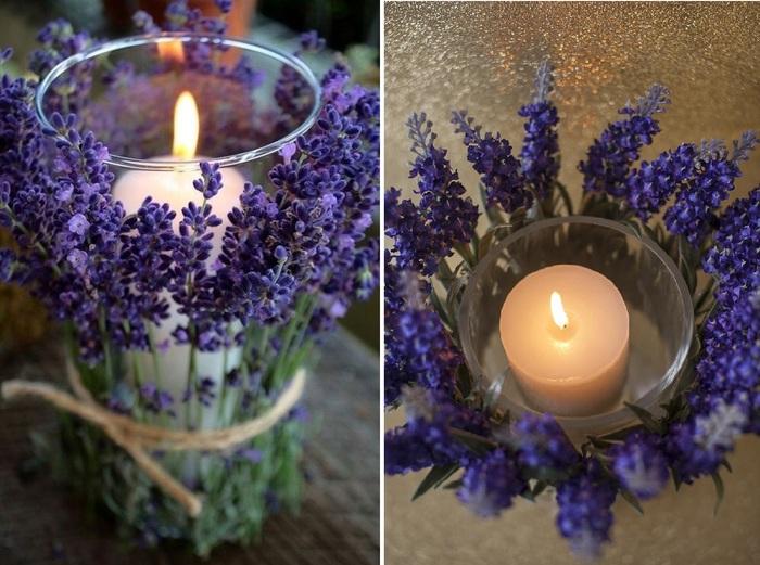 Свечи лаванда-стиль прованс