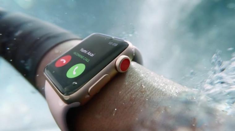 Apple Watch Series 3-SMART-часы под водой
