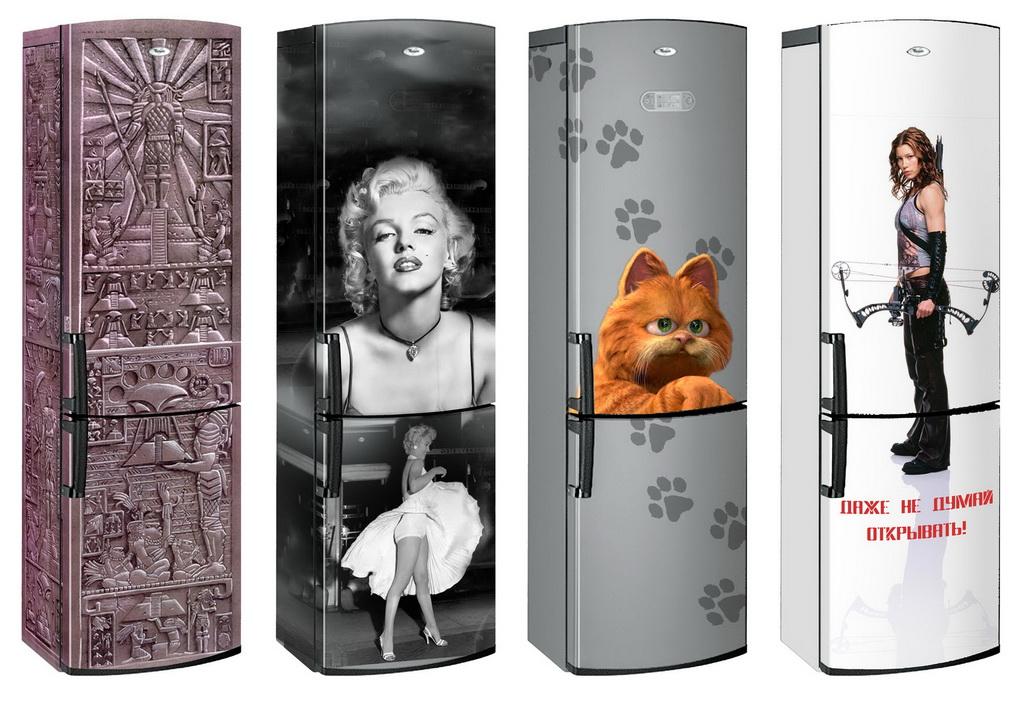 Декор холодильника-аэрография примеры