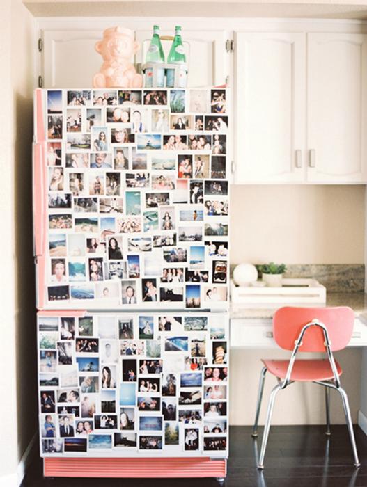 Декор холодильника-калейдоскоп воспоминаний