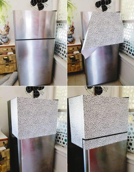 Декор старого холодильника-оклеивание специальной пленкой пошаговая инструкция