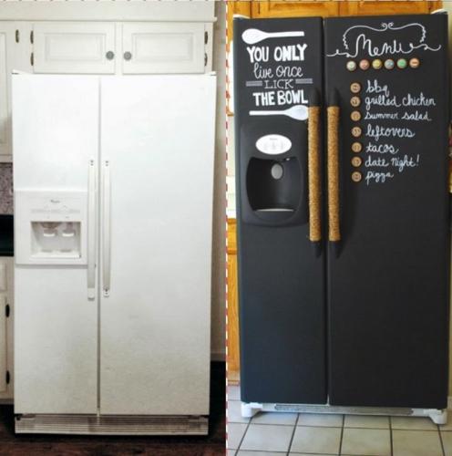 Холодильник-грифельная доска