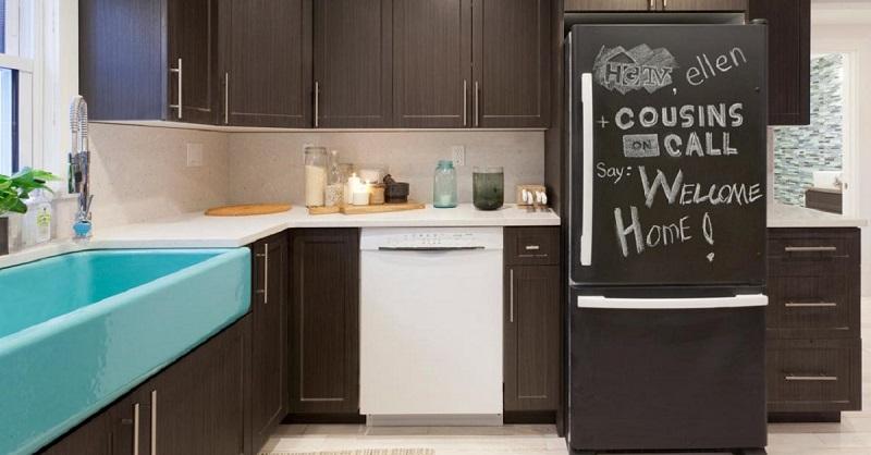 Холодильник-оклеенный грифельной бумагой