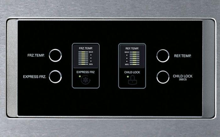 Какая температура должна быть, чтобы продукты не портились - панель управления холодильником