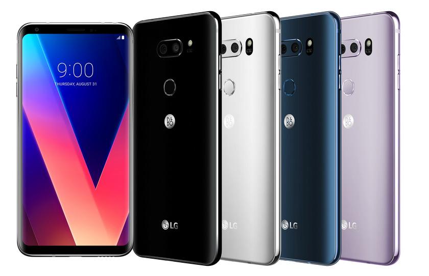LG V30-ракурсы и расцветки