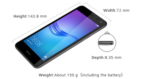 Обзор Huawei Y5 2017 - размеры смартфона