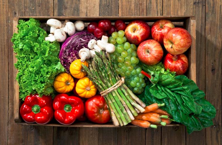 Осенние овощи и фрукты