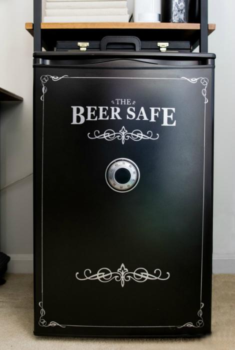 Преображение мини-холодильника-стильный сейф
