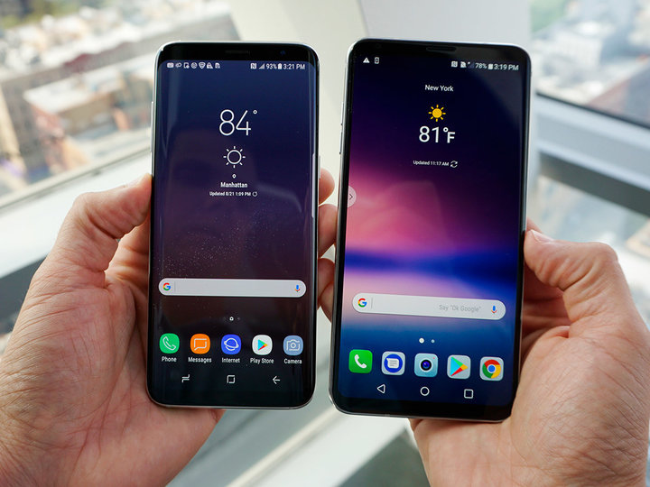Samsung Galaxy S8 и LG V30-сравнение