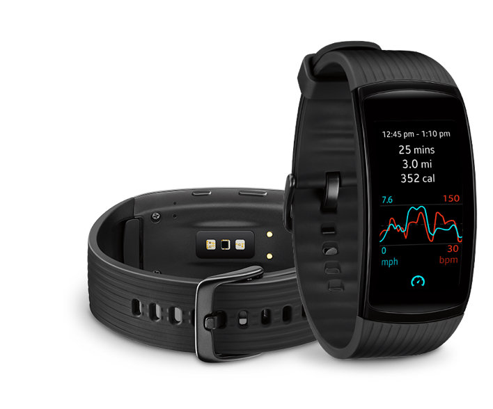 Samsung Gear Fit2 Pro-heart rate tracking