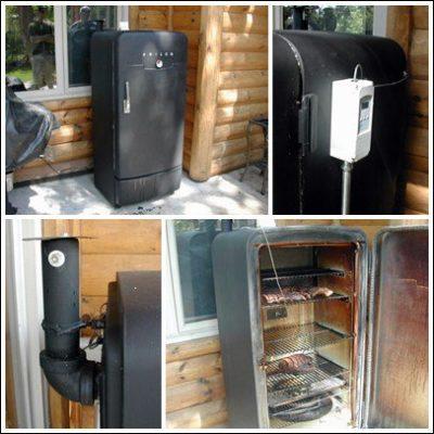 Коптильня зі старого холодильника
