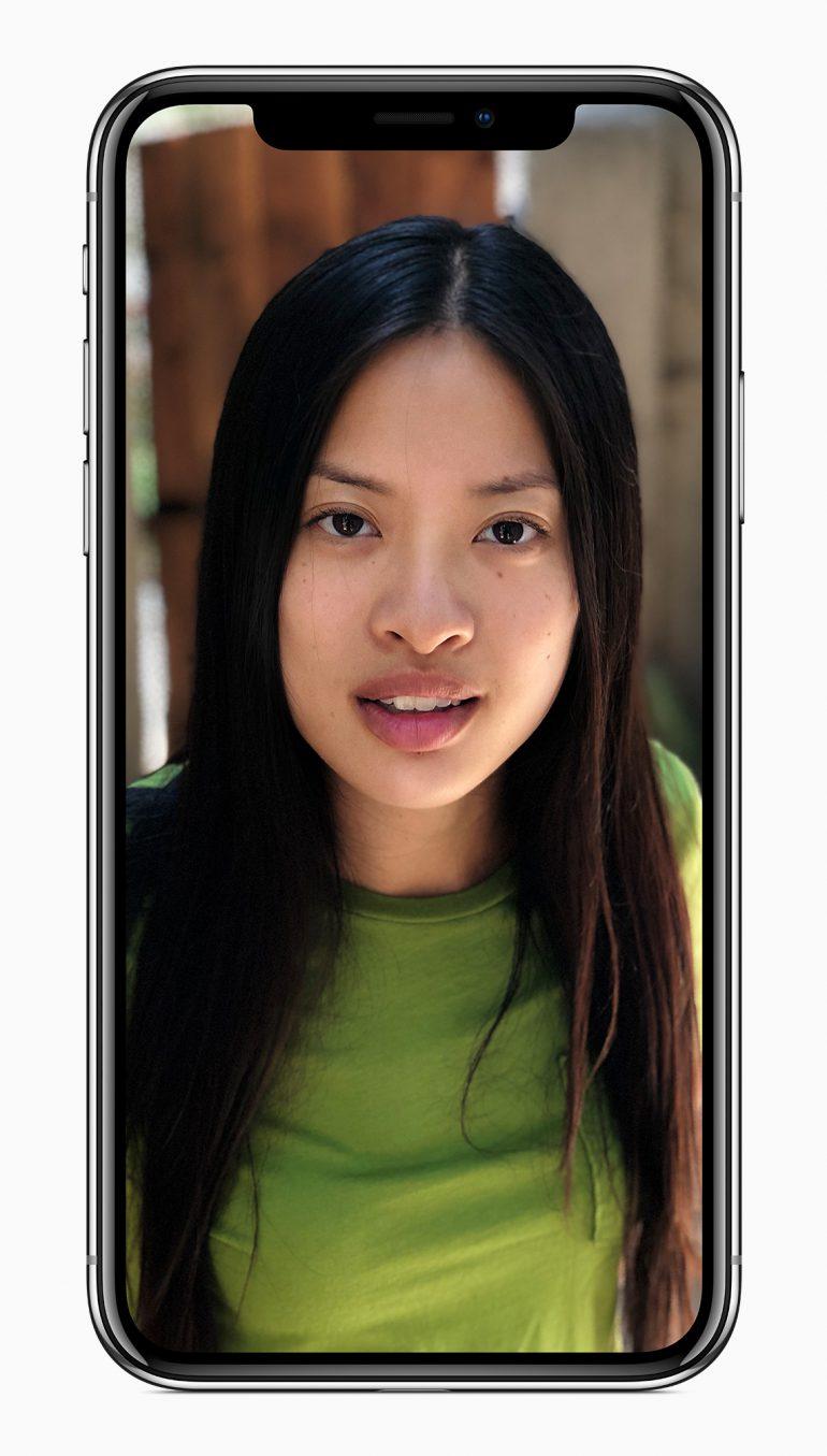 iPhone X-фронтальная камера