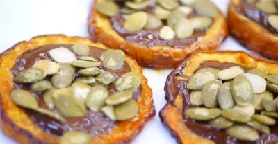Готовый десерт из тыквы на Хэллоуин