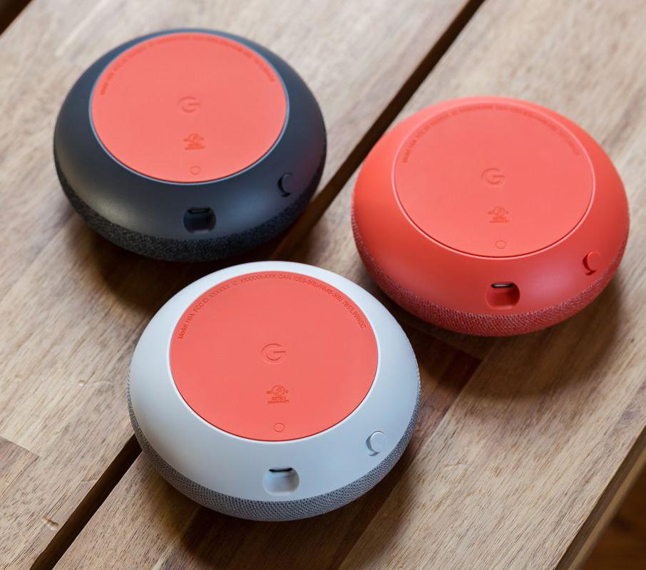 Google Home Mini-домашний помощник-колонка обратная сторона устройства