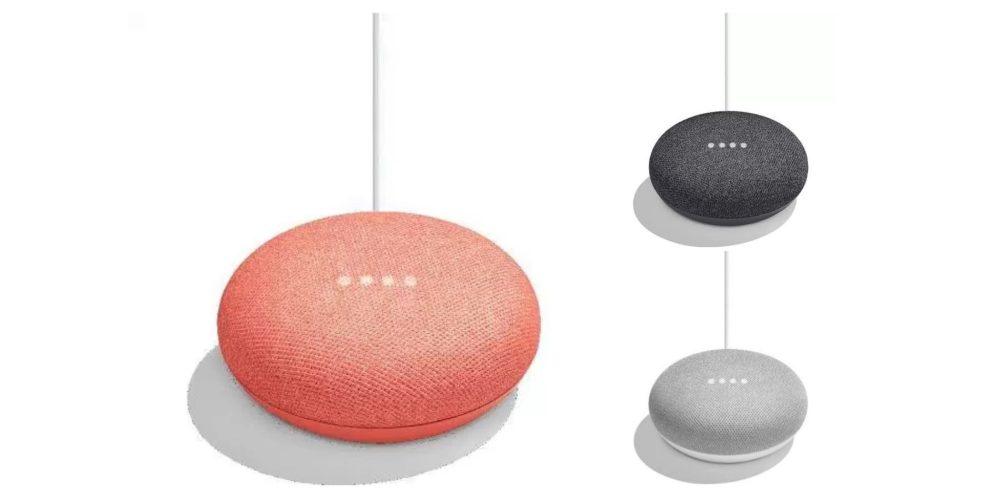Google Home Mini-домашний помощник-колонка расцветки