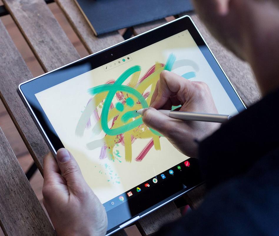 Google Pixelbook-работа с экраном
