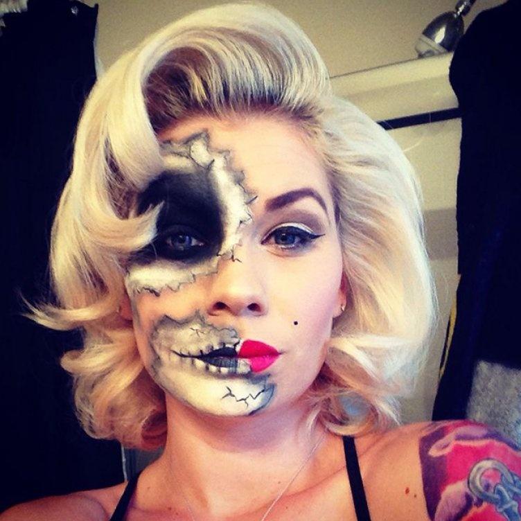Идеи для жуткого макияжа на Хэллоуин-ангел или демон