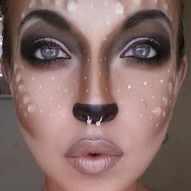 Идеи для жуткого макияжа на Хэллоуин-инопланетное существо